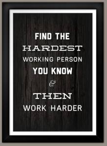 Look around the room, find the hardest working person. If the answer is not you. Its time to turn up the heat and work harder